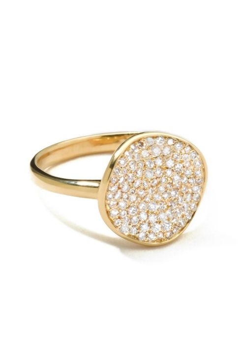 Ippolita 18K Gold Stardust Diamond Ring