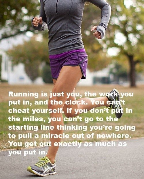 No one can do the work for you, you get what you put in… #running