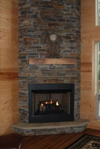 17 Best ideas about Stacked Rock Fireplace on Pinterest ...