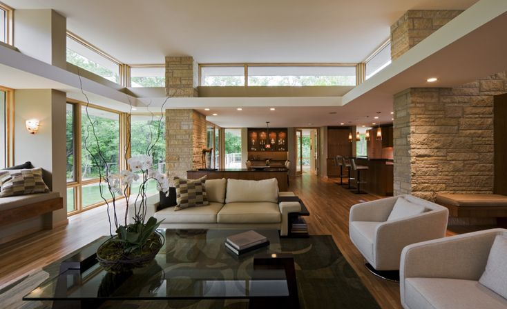 Living Room Charles Stinson Architect Laurie Plattes