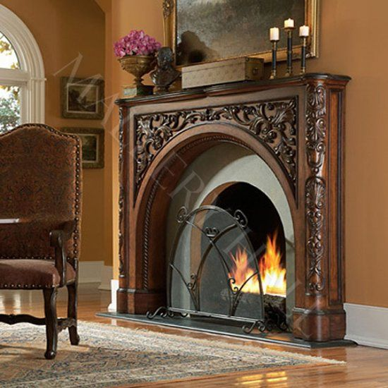 Arched Mahogany Fireplace Surround  Fireplaces  Pinterest  Fireplaces and Fireplace surrounds
