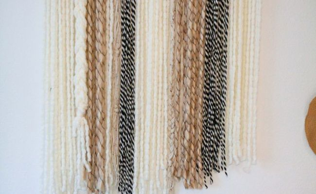 Boho Yarn Wall Art Tutorial On Lmm Diy Furniture And