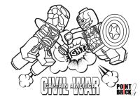 Disegni da Colorare LEGO Capitan America Civil War - Cap e ...