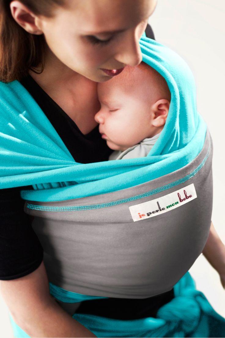 echarpe de por e turquoise poche gris clair jpmbb echarpe porte bebe