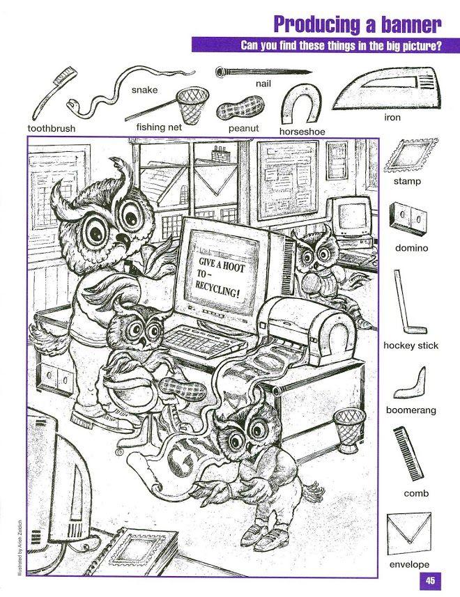 Dibujos Ocultos Juego Objetos Ocultos Hidden Pictures