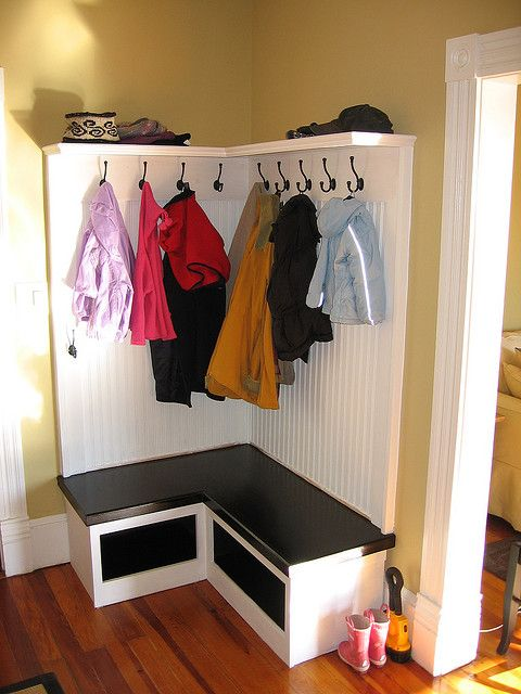Built In Coat Rack Storage Flickr Photo Sharing Diy