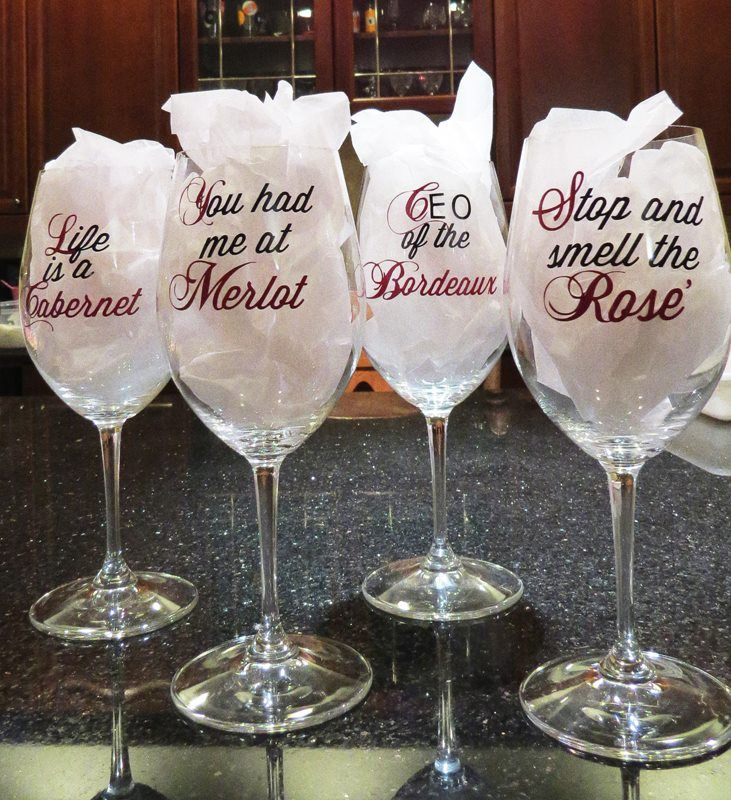 Wine Glass Sayings Silhouette SVG Tips Tricks And