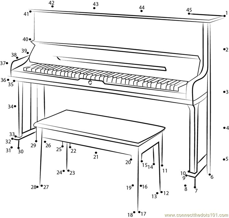 Connect the dots U3-SH Silent Upright Piano worksheet, Dot
