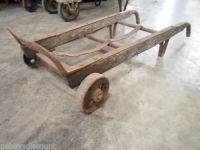 Vintage Antique Transport 2 Wheel Dolly Steel Hand Truck ...