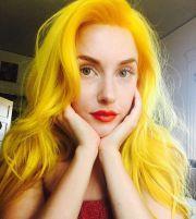 bright yellow hair - love