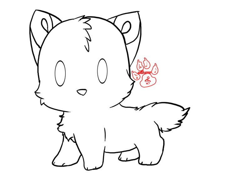 1000 Ideas About Cute Wolf Drawings