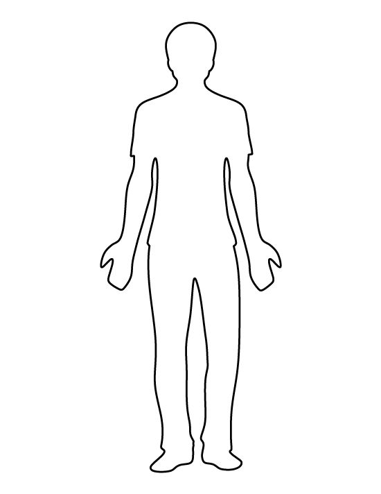 Man pattern. Use the printable outline for crafts