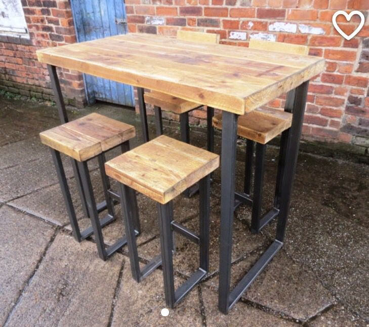 17 Best ideas about Wooden Bar Table on Pinterest