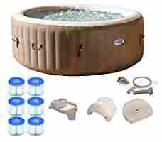 amazon com intex pure spa person inflatable portable hot tub ultimate bundle