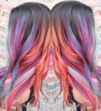 17 Best ideas about Colored Hair Streaks on Pinterest ...