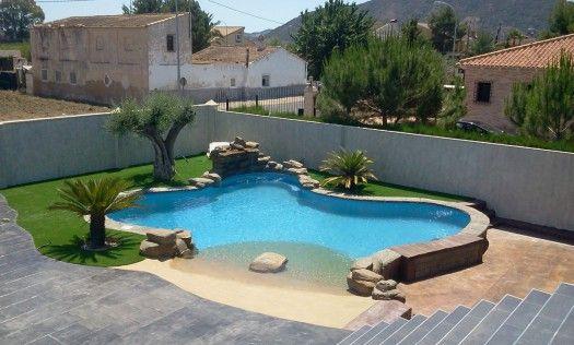 Bilder Von Pool Im Garten Gartengestaltung Pool Flusssteine Beton Wand Garten Pinterest Wands Pools And Garten