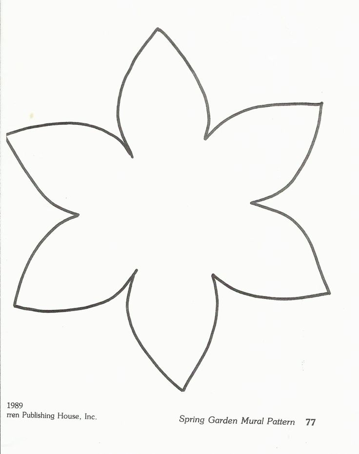 Flower Template Preschool http://squishideasforpreschool