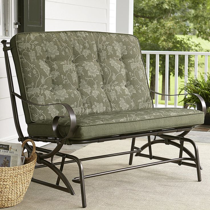 Jaclyn Smith Cora Cushion Double Glider  Outdoor Living