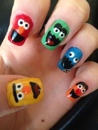 62 best images about sesame street nails & nail art design