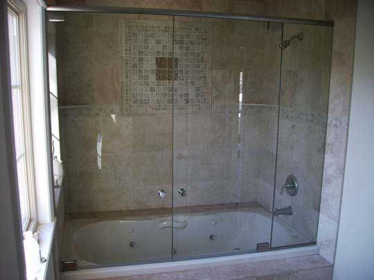 Jacuzzi tubshower combo  exotic batroom ideas for my fiance  Pinterest  Mom Glass walls and