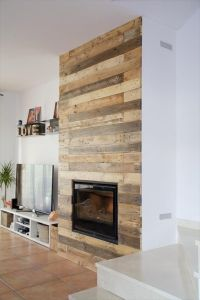 1000+ ideas about Pallet Fireplace on Pinterest | Faux ...