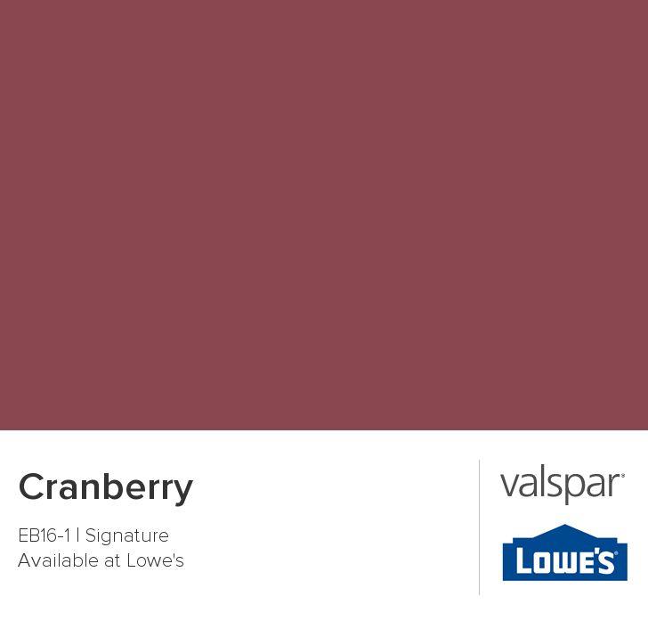 Valspar Paint Color Chip Cranberry Home Pinterest
