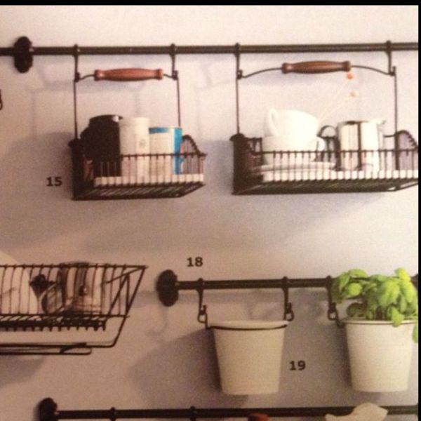 ikea kitchen hanging storage Ikea kitchen wall organizer | Kitchen Remodel ideas | Pinterest | Kitchen walls, Ikea kitchen