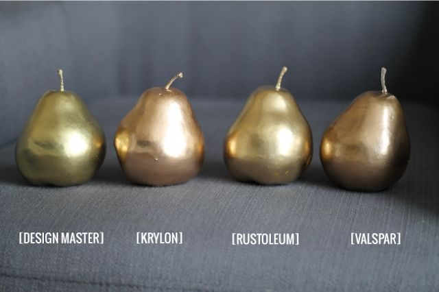 Great post about different gold spray paints. I have been using Design Masters on my projects.