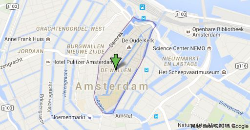 Map of De Wallen Amsterdam Netherlands Places to Visit