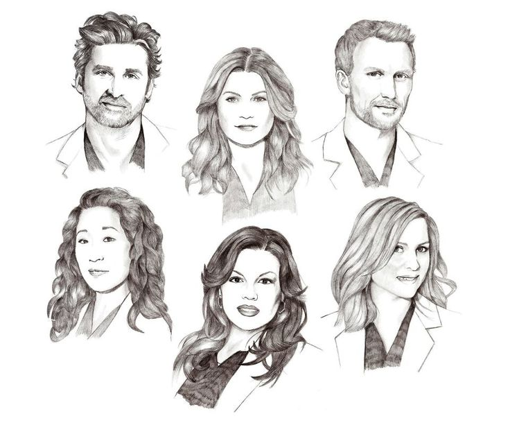Derek Shepherd, Meredith Grey, Owen Hunt, Cristina Yang