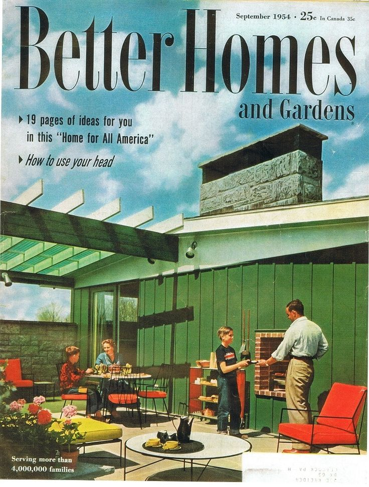 Better Homes and Garden  cover September 1954  Living
