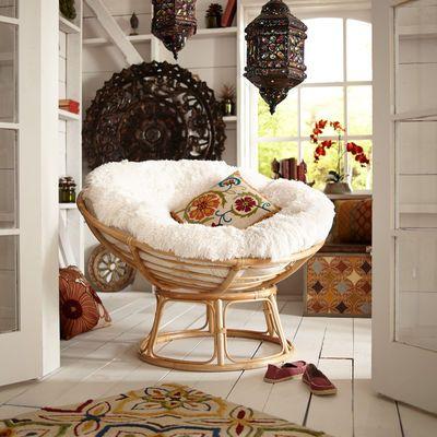 Fuzzy Sand Papasan Cushion  Papasan chair Chairs and