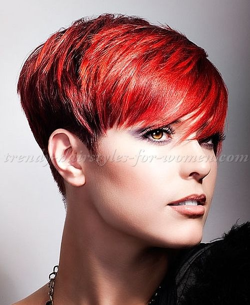 25 Best Ideas About Red Pixie Cuts On Pinterest Short Choppy