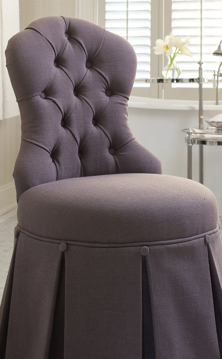 sofa upholstery fabric ideas brown leather 2 seat sabrina vanity stool | beautiful, chairs and
