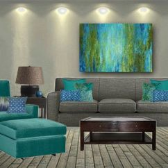 Diy Canvas Art For Living Room Portable Bar Large Wall Art, Abstract Print, Turquoise Olive ...