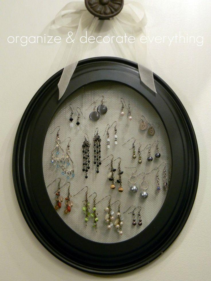 1000+ ideas about Organizing Earrings on Pinterest