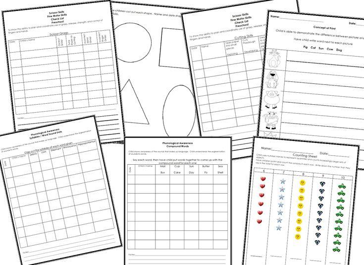 25+ best ideas about Preschool Assessment on Pinterest