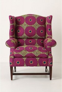 African fabric reupholstered chair | African Home Decor ...