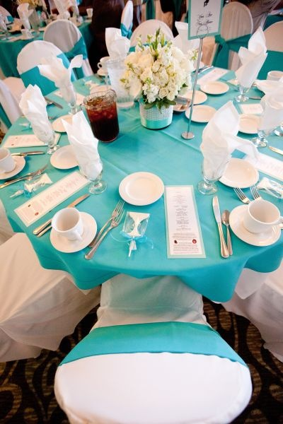 teal chair covers beach canopy 17 best ideas about tiffany blue centerpieces on pinterest | wedding decorations, ...