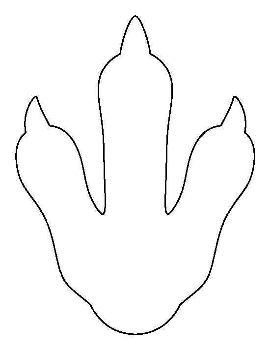 Penguin footprint pattern. Use the printable outline for