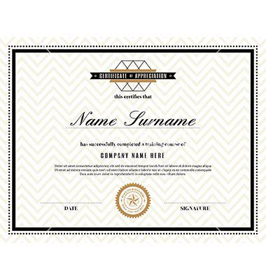 Retro frame certificate design template vector by kraphix