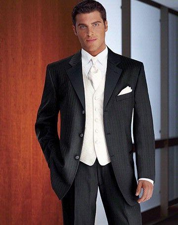 I love a white vest and black tux.