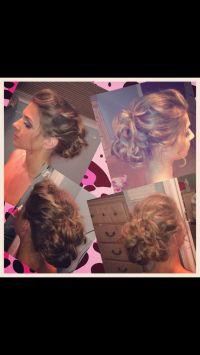 Fun loose wavy updo wedding hair
