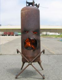 old propane tank firepit | DIY | Pinterest | Fire pits ...