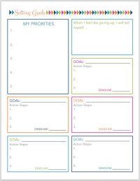 Best 25+ Goals Printable ideas on Pinterest | Set your ...