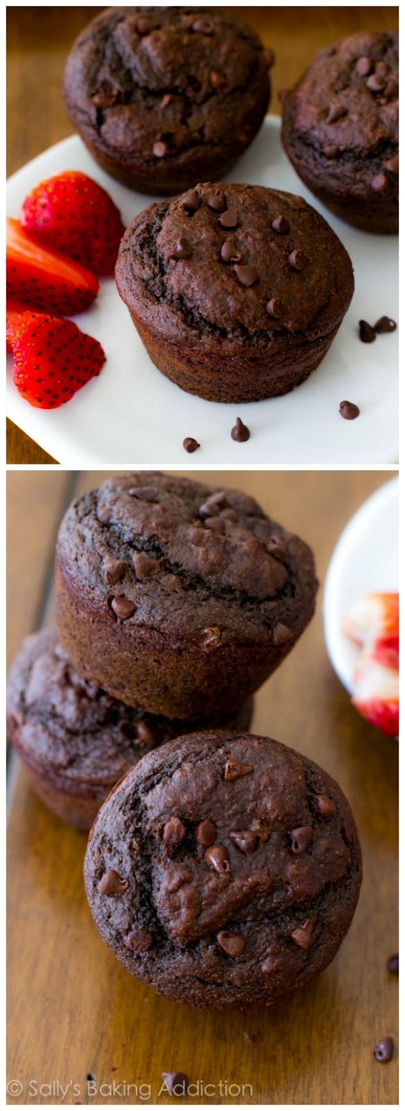 I make these Low Fat, Skinny Double Chocolate Muffins whenever I have a chocolate craving. Which is often!