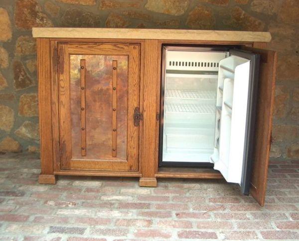 diy outdoor refrigerator cabinet outdoor refrigerator cabinets - Google Search | Cabinets | Pinterest | Copper, TVs and Console