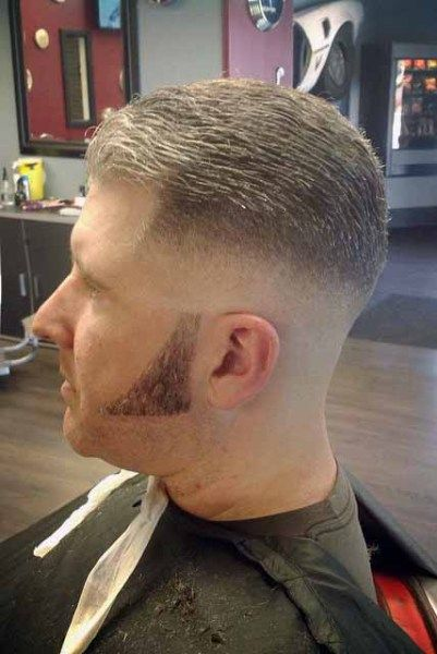 unnamed model with long sideburns  sideburns  Pinterest  Sideburns Medium skin fade and
