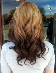 reverse ombre hair brown black