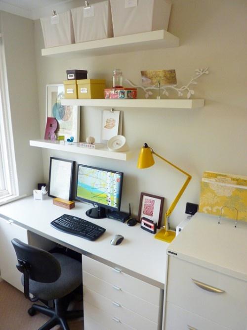 Floating Shelves Above Office Desk Baby Love Pinterest